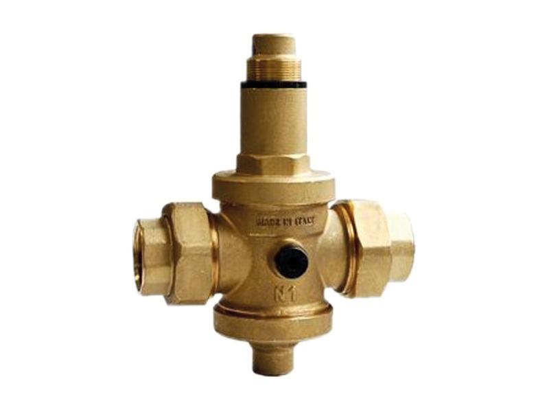 Riduttore di pressione a pistoni per acqua e aria