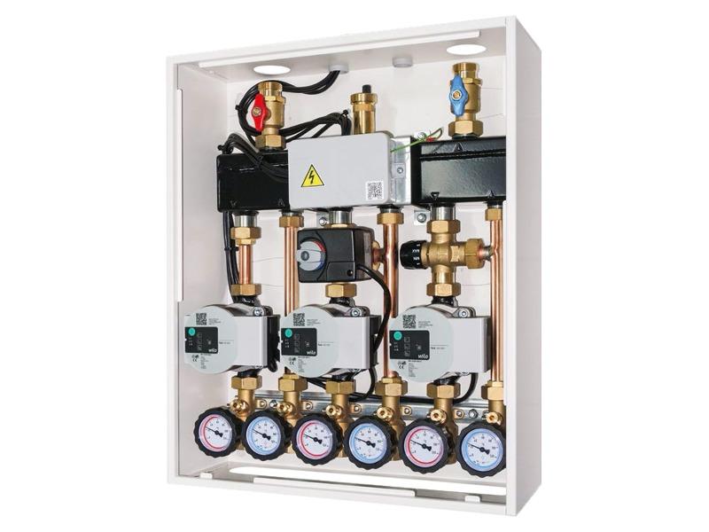 Cassetta di distribuzione modulare multizona per caldaie murali a gas