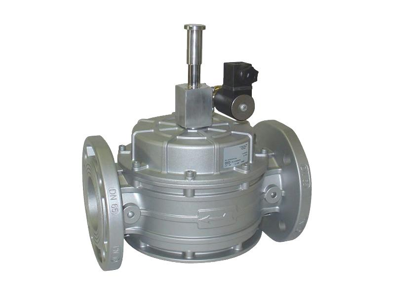 Elettrovalvola normalmente aperta per gas riarmo manuale
