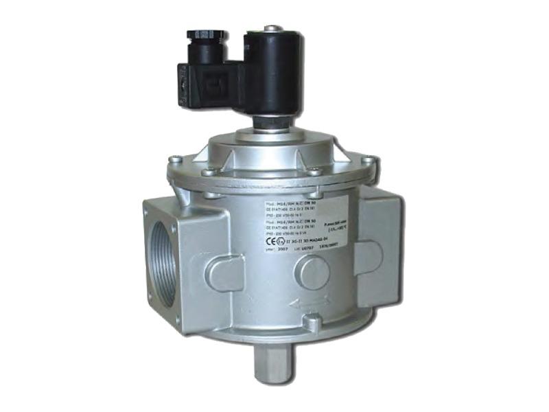 Elettrovalvola normalmente chiusa per gas riarmo manuale