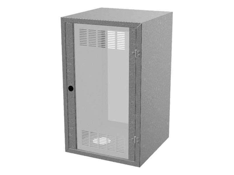 Armadietto acciaio zincato per contatore gas UNI 9036:2015